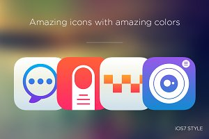 Awesome icons with awesome colors