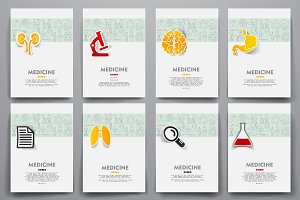 Set of medicine brochures