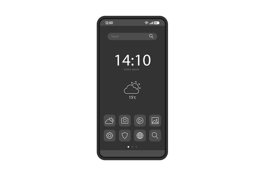 Smartphone home screen template