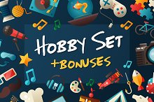 Hobby Icons + Bonus Illustrations