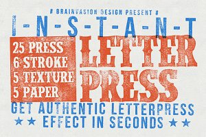 Instant Letterpress - PSD Action