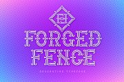 Forged Fence Typeface