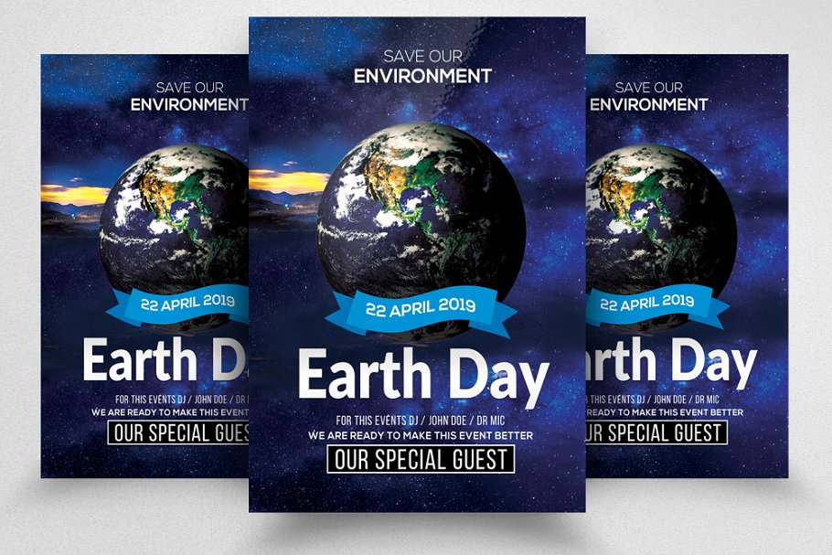 Happy Earth Day Psd Flyer Templates