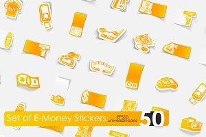 50 e-money stickers