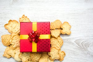 Christmas cookies and gift box