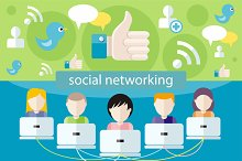 3 Social Media Network Connection