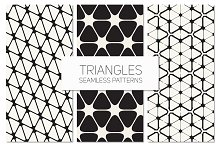 Triangles. Seamless Patterns Set 7