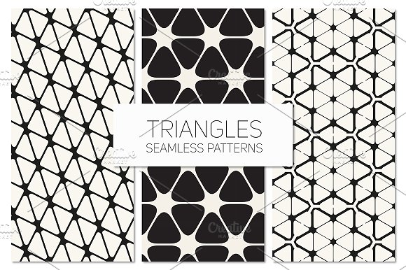 Triangles. Seamless Patterns Set 7 - Patterns