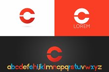 Letter C logo vector icon