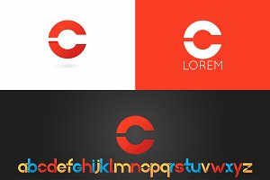Letter C logo vector icon