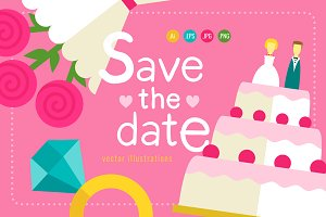 Cute set of 3 wedding invitations ♥