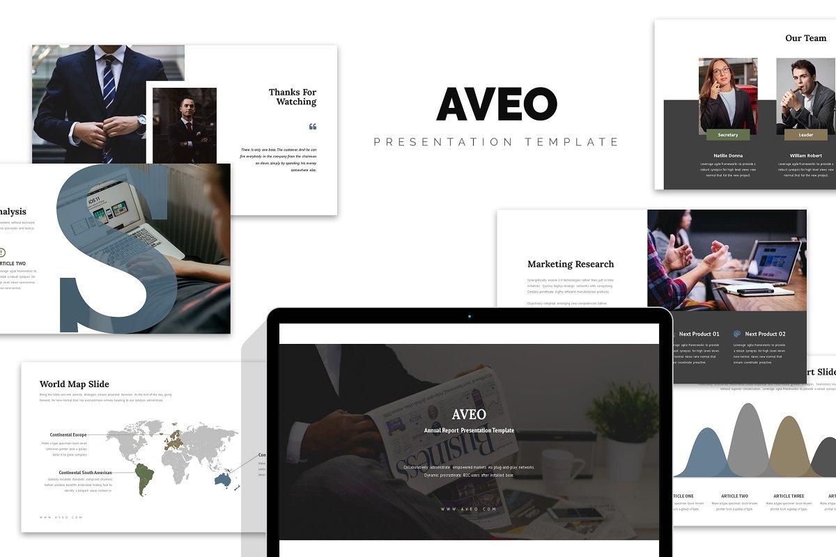 Aveo : Marketing Report Powerpoint