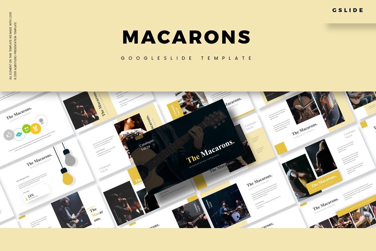 The Macarons -Google Slides Template