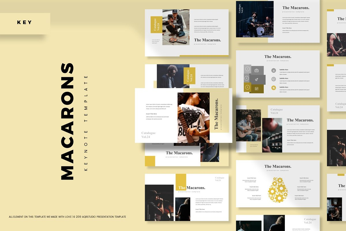 The Macarons - Keynote Template