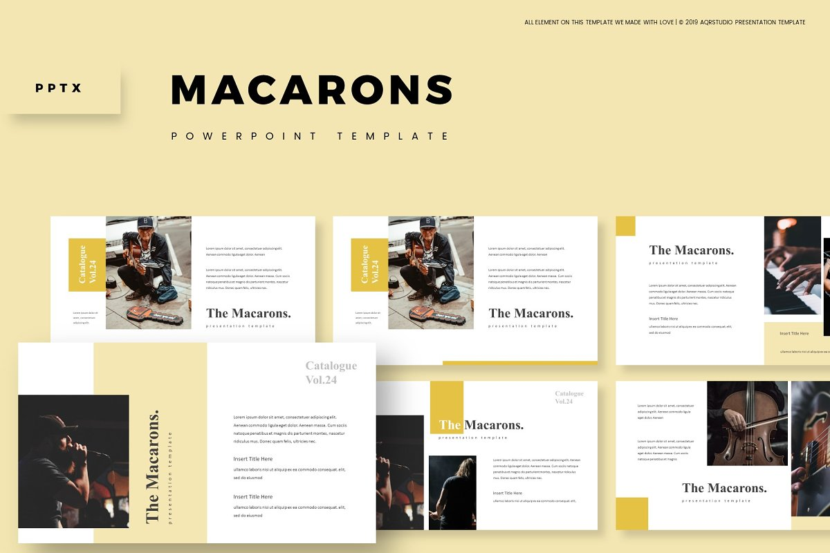 The Macarons - Powerpoint Template