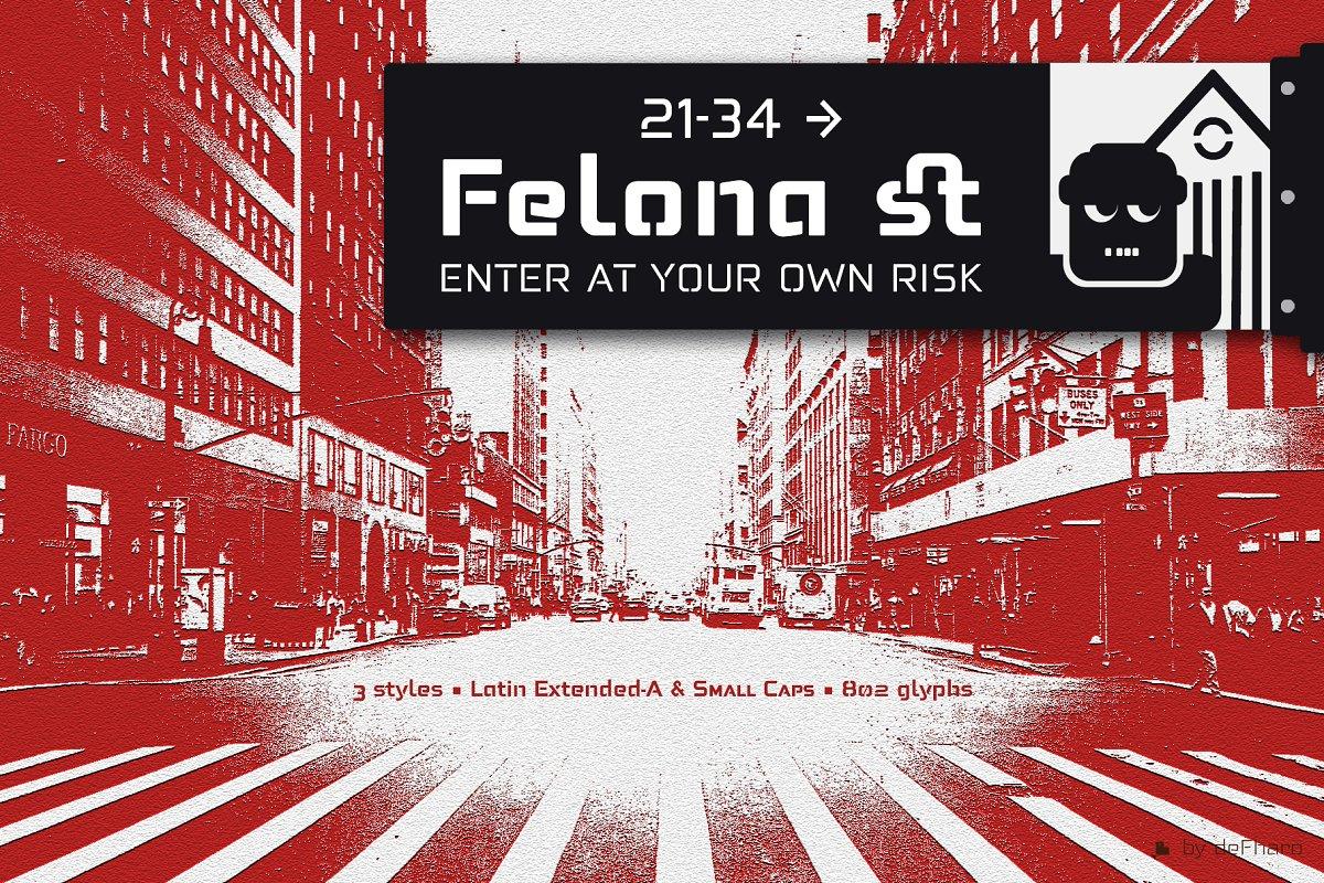 Felona st -6 Neo Stencil fonts