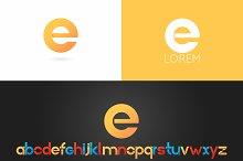 Letter E logo vector icon