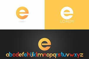 Letter E logo vector icon