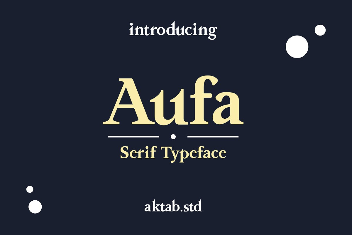 Aufa - A Serif Typeface