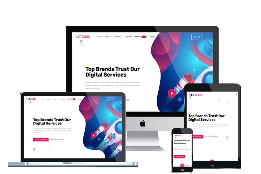 LT Digix Onepage Digital templates