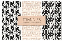 Triangles. Seamless Patterns Set 8