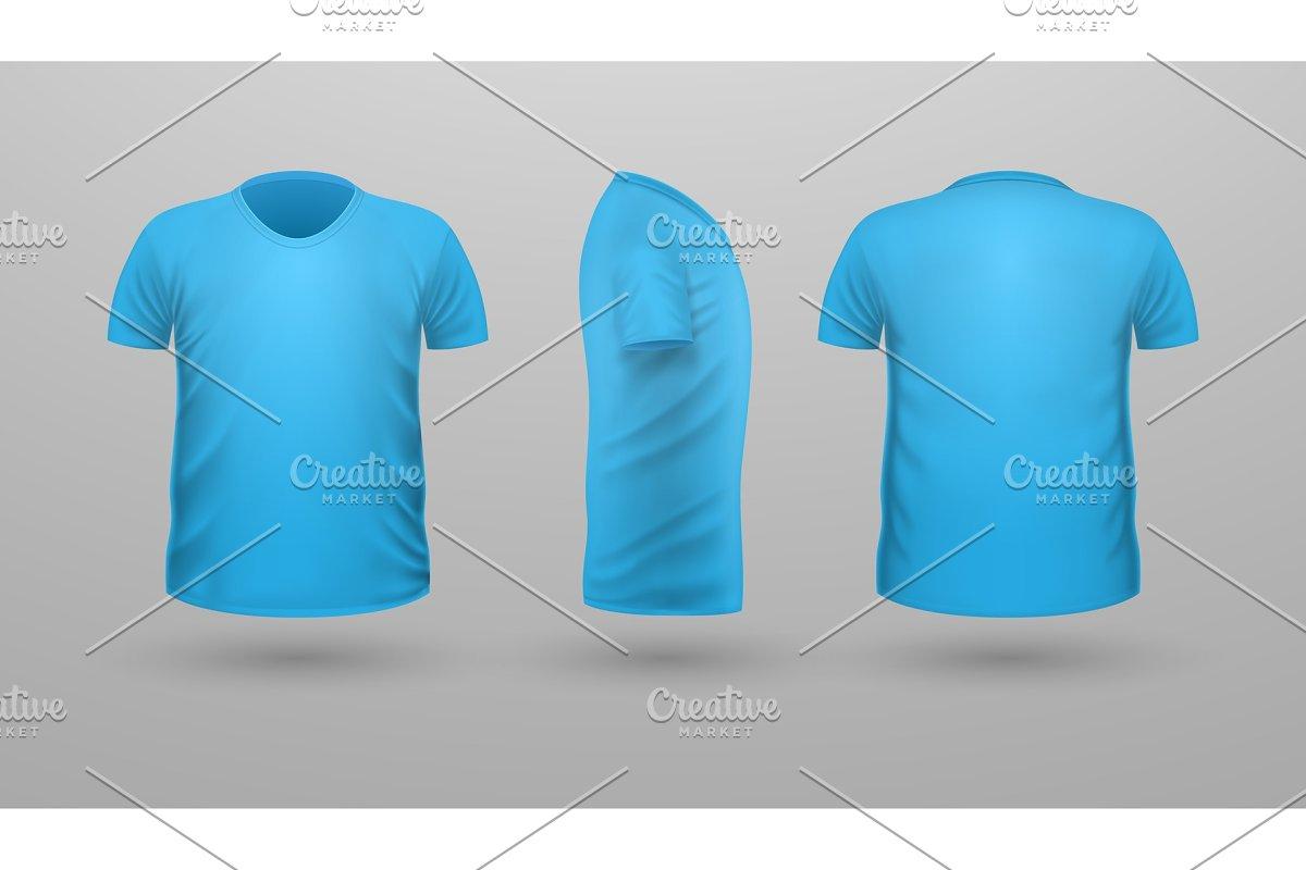 T-shirt Teplate Set. Front Side Back