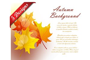 Set of 5 Autumn Frames