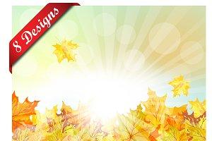 Set of 8 Autumn Designs