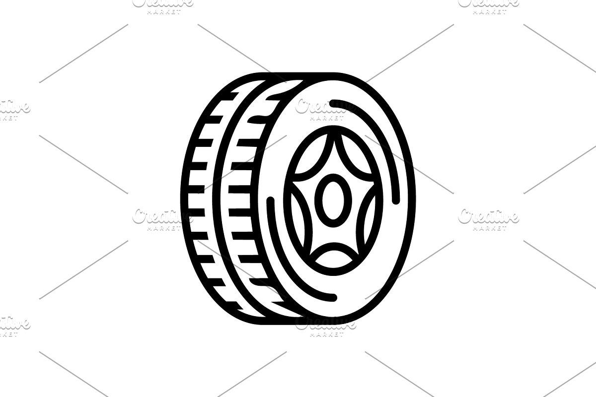 Tire wheel icon