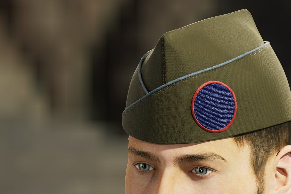 Garrison side cap with patch