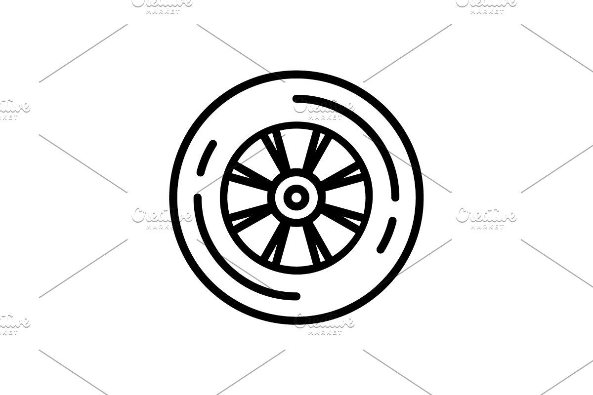 Wheel tyre icon