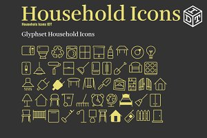 Household Icons Font+Web Font(Free)