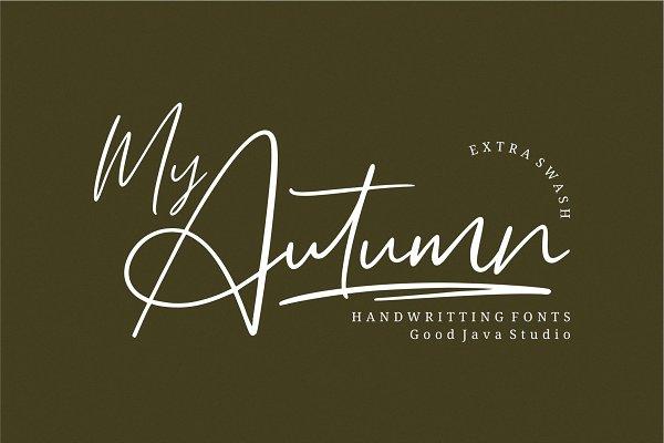 My Autumn Signature Font