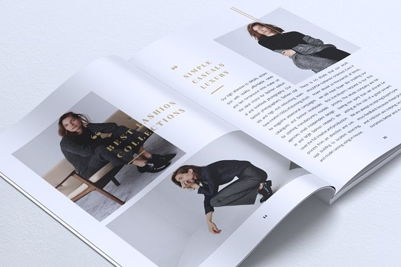 NEBULA Minimal Lookbook Magazines
