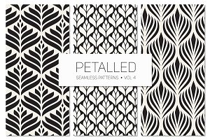 Petalled Seamless Patterns Set 4