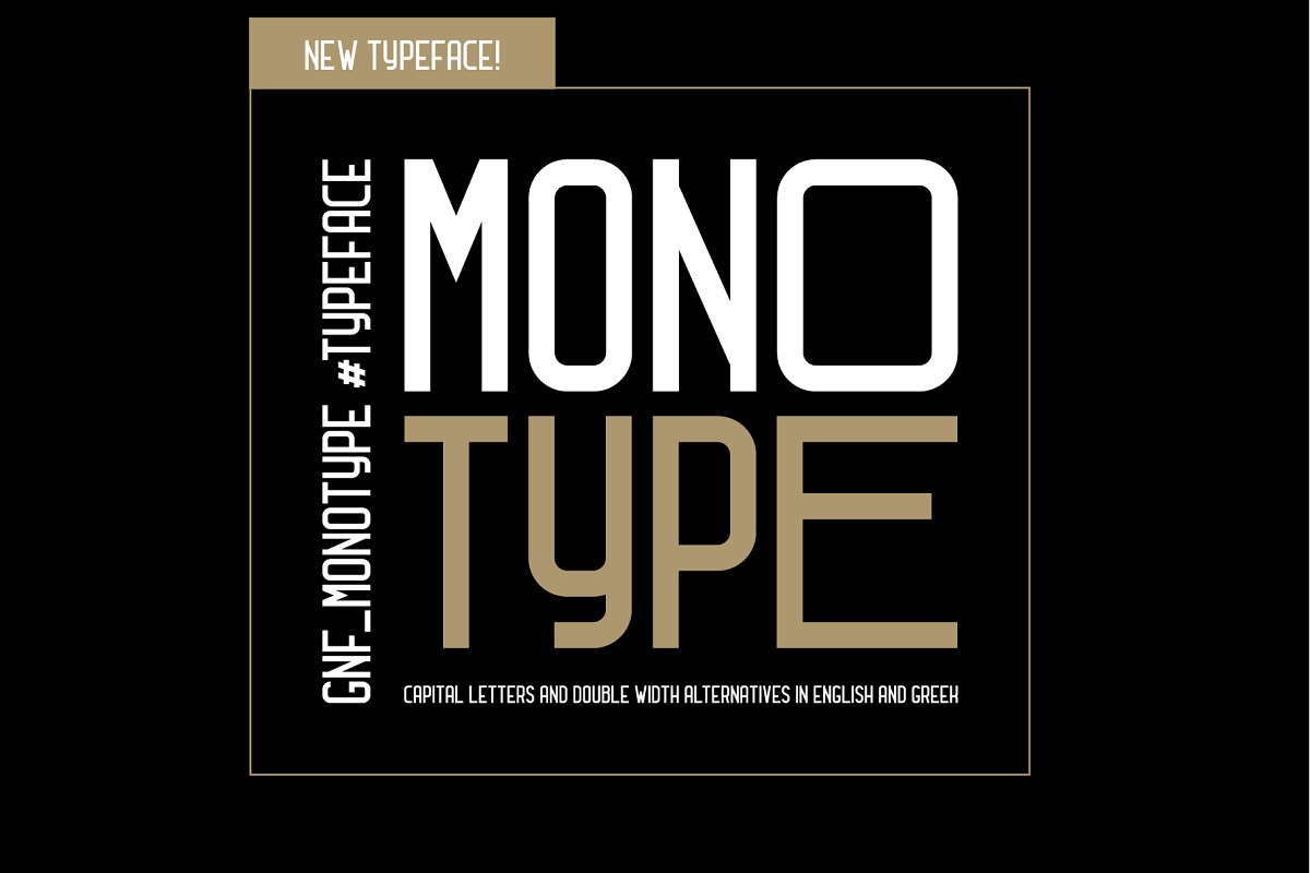 GNF_MONOTYPE TYPEFACE ~ Display Fonts ~ Creative Market