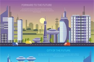 Vector city of the future