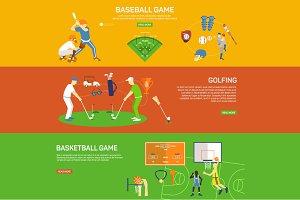 Sport design concept set