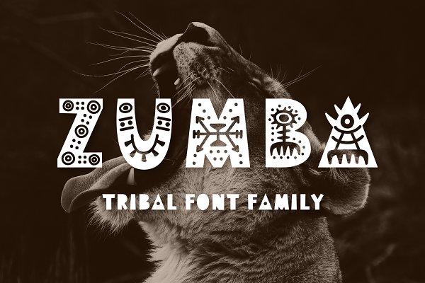 Zumba Tribal Font Family