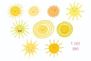 Cute Sun Characters