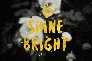 Shine Bright inspirational backgroun