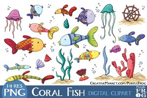 CORAL FISH - Digital Clipart