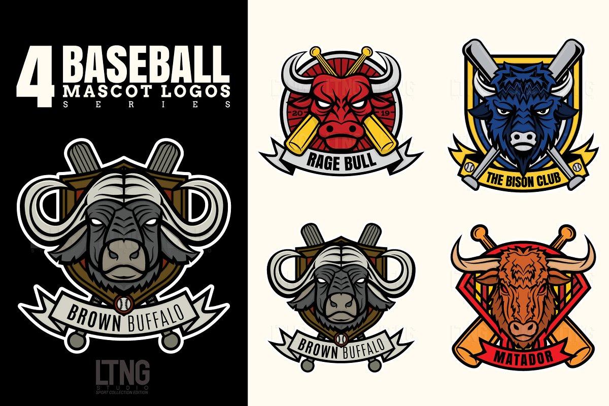 Baseball logo series 1