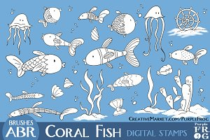 CORAL FISH - Stamps / Brushes