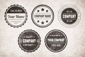 Vintage Circular Badges Vector Pack