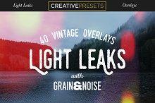 40 Vintage Light Leaks Overlays