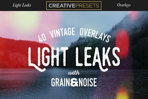 40 Vintage Light Leaks Overlays
