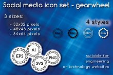 Social media icons - gearwheel
