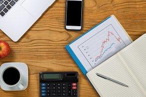 Desktop with Financial Data