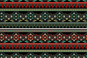 2 (green and red) Seamless Patterns